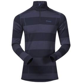 Bergans Fjellrapp Maglietta con mezza zip Uomo, blu